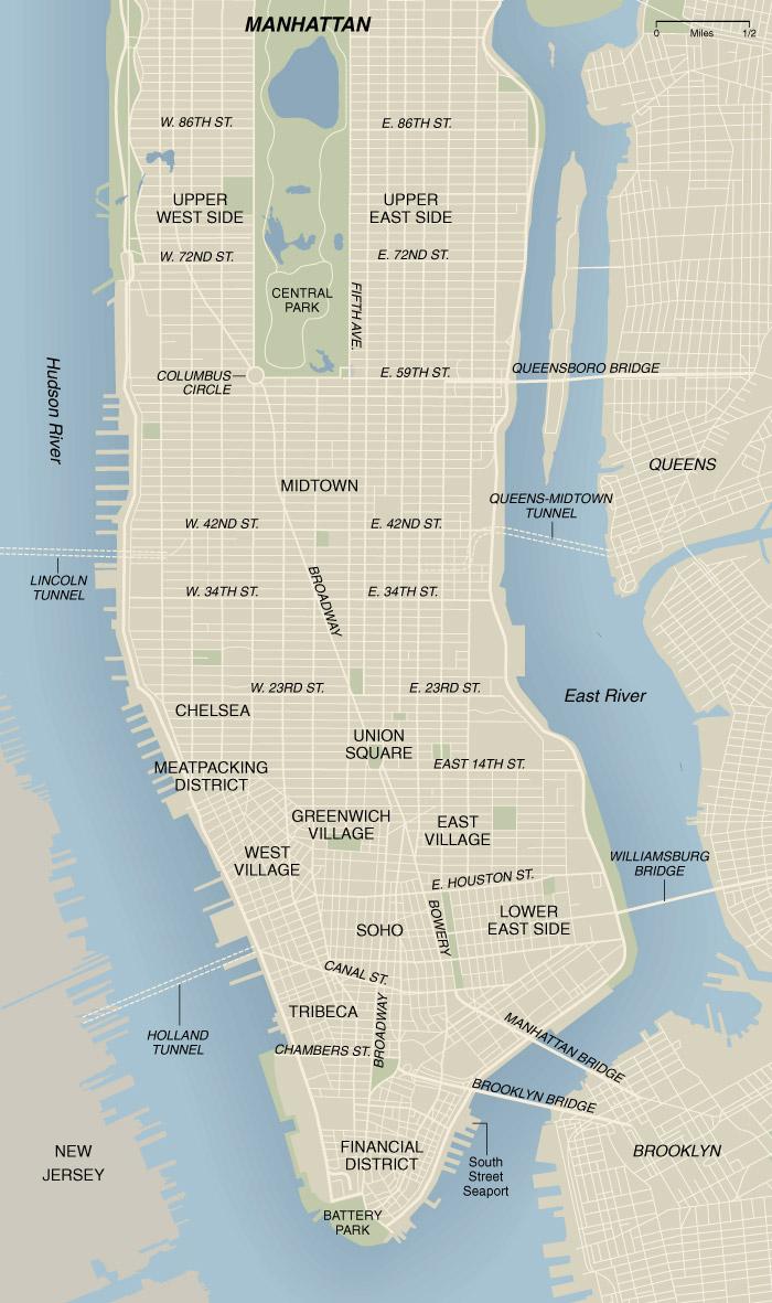 New York State of Mind – Map Manhattan